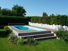 WPC Terrassen Dielen Diele Pool Holz Poolumrandung Barfußdiele Steg Garten Weg