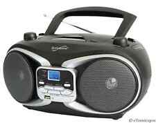SUPERSONIC PORTABLE AUDIO SYSTEM MP3/CD PLAYER w/ USB/AUX INPUTS & AM/FM RADIO