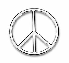 COOL! 3-D Chrome Colored PEACE SIGN DECAL Emblem for Car Automobile Truck