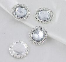 10 Round Diamante A Grade Rhinestone Clear Crystal Embellishments For DIY Craft