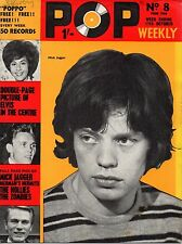 Pop Weekly Magazine 17 October 1964    Mick Jagger    The Beatles    The Hollies