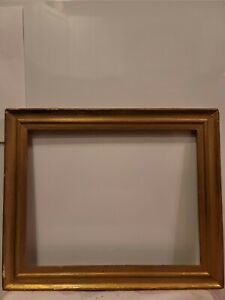 "ANTIQUE FITS 14 X 11"" GOLD GILT PICTURE FRAME WOOD GESSO FINE ART"