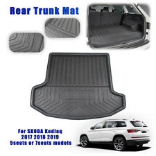 7 Seats Rear Trunk Boot Liner Cargo Mat Floor Carpet For SKODA Kodiaq 2017-2019