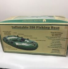 Game Winner Vintage Inflatable 280 Fishing Boat 3 Person 605lbs XUQ 00673A303