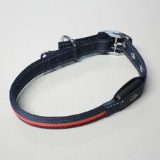 2 Stück LED Hunde Halsband Blau Rot 40-50 cm roter Leuchtstreifen Leuchtband B36