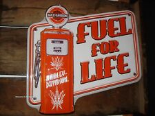 NEW METAL DECOR* HARLEY DAVIDSON HD PUMP FUEL PLAQUE shop emblem logo gasoline