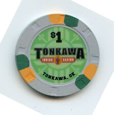 1.00 Casino Chip from the Tonkawa East Casino Tonkawa Oklahoma