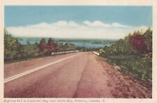 Highway 11 CALLANDER BAY near NORTH BAY Ontario Canada 1940s PECO Postcard