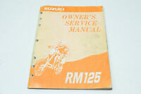 OEM Suzuki 99011-43D52-03A Owner's Service Manual RM125