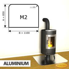 Kamin Bodenplatte Funkenschutz Kaminplatte Aluminium Ofen Platte Ofenblech - M2
