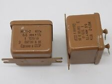 1x OIL CAPACITOR MBGP-2 600V 0.5uF 5% NOS МБГП-2