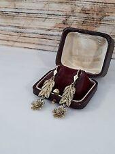 Antiguedad aretes de plata 925 doradas, hermosa filigransilberverarbeitung