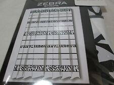 NEW Home Wear Black and White Zebra Stripe Fabric Shower Curtain 70x72 NIP