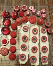 Vintage Lot of  Red Buttons