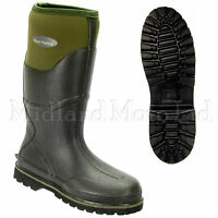 Wyre Valley Trent Muck Boots Green Neoprene Lined Wellington Farm Stable Yard
