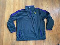 Minnesota Vikings Nike On Field 1/4 Zip Windbreaker Mens L EUC Gray Purple NFL