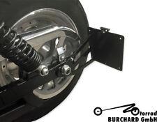 Seitlicher Kennzeichenhalter Harley Davidson Street Bob 19 mm schwarz TÜV