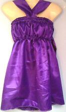 Vestido de Satén Púrpura Bebé Adulto Sofisticado Vestido Sissy mucama cosplay se adapta a 36-46
