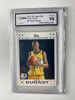2007 Topps Basketball Kevin Durant ROOKIE RC #2 GMA 10 GEM MINT