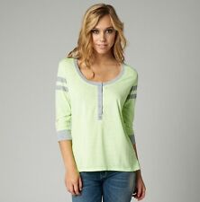 Fox Racing Women's Ammo Henley Top Day Glo Green Size S