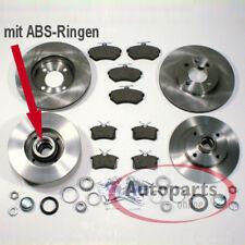VW Corrado G60 - Bremsscheiben Bremsen Set ABS Ringe montiert für vorne hinten