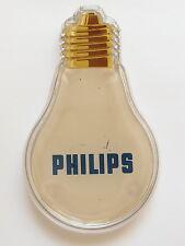 Alter Philips Zahlteller aus Glas, midcentury, Werbung, vintage Glühbirne