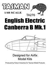 Tasman 1/48 Vacform Canopy TA276 EE Canberra B Mk.1 Canopy