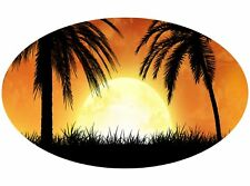 Motor Home Caravane Camping-Car Cheval Boite Sunset Stickers Mural Autocollant Graphique mh1-135