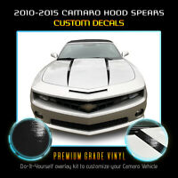 For 2010-2015 Chevy Camaro Hood Spears Stripes Graphic Vinyl Decal Glossy Matte