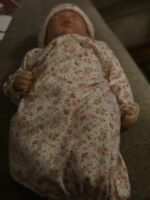 "Maggie ""So Truly Real"" Breathing Vinyl Baby Doll by The Ashton Drake company"