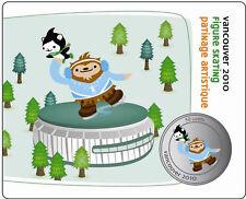2010 50cent coi Vancouver Mascots Collector Cards: Quatchi & Miga Figure Skating