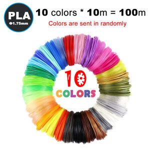 10M 10 Colors 3D Pen Printer Filament Refills 1.75mm PLA Printing Filaments 100M