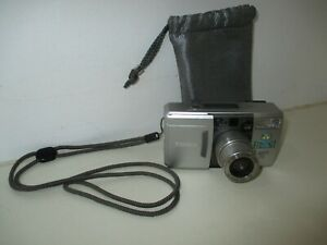 Konica Lexio 70 35mm Compact Camera, 28-70 Zoom Lens F3.4-7.9 Silver with Case