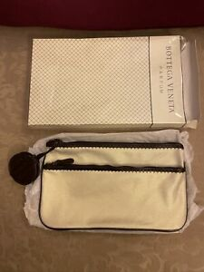 NIB New Bottega Veneta Parfum Clutch Pouch Cosmetic make up Bag with Mirror