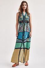 NWT Anthropologie Ezora Silk Maxi Dress Sz XXS