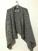 Talbot's Alpaca Wool Tweed Wool Cardigan Flap Front Cape Size S Sweater Women