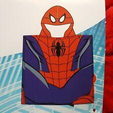 MARVEL poncho cape de bain SPIDERMAN roue bleu 60 x 120 cm serviette