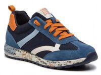 GEOX RESPIRA ALBEN J929EA scarpe ragazzo uomo sneakers pelle camoscio tessuto