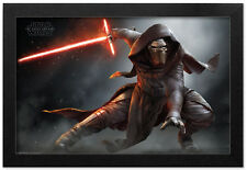 STAR WARS THE FORCE AWAKENS KYLO REN CROUCH 13x19 FRAMED GELCOAT POSTER JEDI NEW