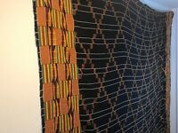 Vintage large African EWE hand woven cloth