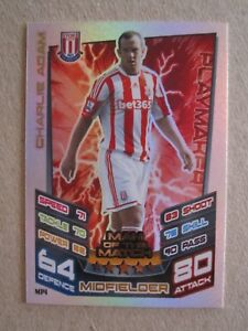 Match Attax Extra 2012/13 - MOTM card - Charlie Adam of Stoke City