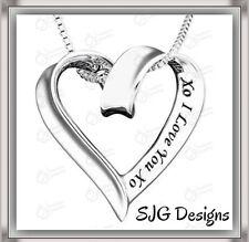 """XO  I LOVE YOU  XO"" - Pendant- Silver Plated -New"