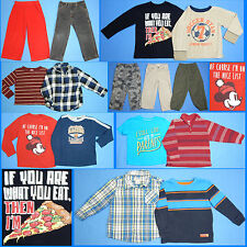15 Piece Lot Nice Clean Boys Size 4T 4 Fall School Winter Everyday Clothes FW108