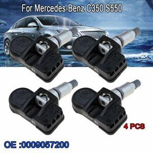 4PCS A0009057200 TPMS Tire Pressure Sensor Fits Mercedes-Benz Smart C E S CL CLA