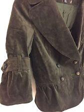 NWT ZARA Bell Sleeve Velvet Blazer Jacket In Khaki Size S