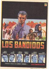 Programa publicitario de de CINE. Título LOS BANDIDOS. Robert Conrad, Roy Jenson