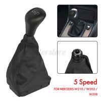 5 Pommeau Levier Vitesse Soufflet Noir pour Mercedes/Benz W202 C W208 CLK W210 E