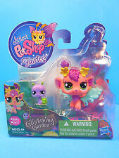Littlest Pet Shop Fairies Glistening Garden Honeysuckle Fairy #2616,  #2617 New