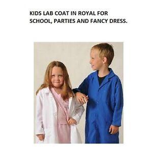 Kids Doctors Scientist Royal Lab Coat Childrens Girls Boys Fancy Dress Costume