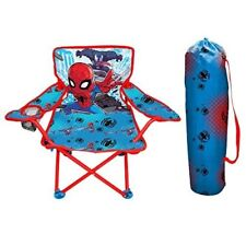 Spiderman Kids Folding Chair w Carry Bag Campng Beach Portable Children Seat